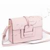 Кожена розова чанта