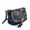 Дамска кожена чанта с цветя