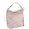 Чанта на цветя с розов отеннък
