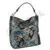 Дамска кожена чанта с лазерна обработка