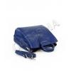 Малка синя чанта с дълга дръжка