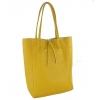 Жълта чанта тип торба