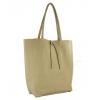 Мека чанта тип торба бежова