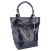 Чанта от гланцирана естествена кожа